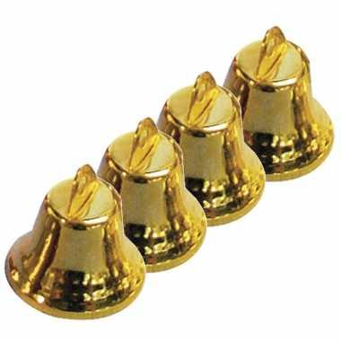 60x gouden metalen hobby klokjes 16 mm