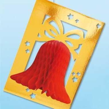 Brandvertragende papieren kerstklok decoratie