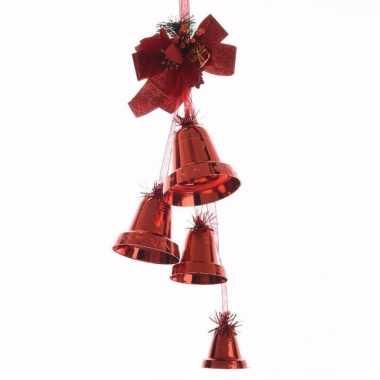 Christmas red rode kerst bellen hanger 50 cm
