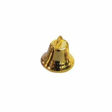 Kerstklokje goud 16 mm 20 stuks