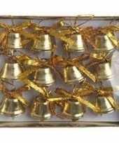 Kerstklokjes goud 12 stuks