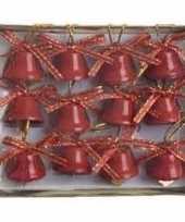 Kerstklokjes rood 12 stuks